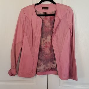 Danier genuine leather pink jacket